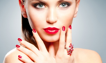Basic Manicure with Option for Facial or Pedicure at Evolution Beauty Salon (Up to 53% Off)