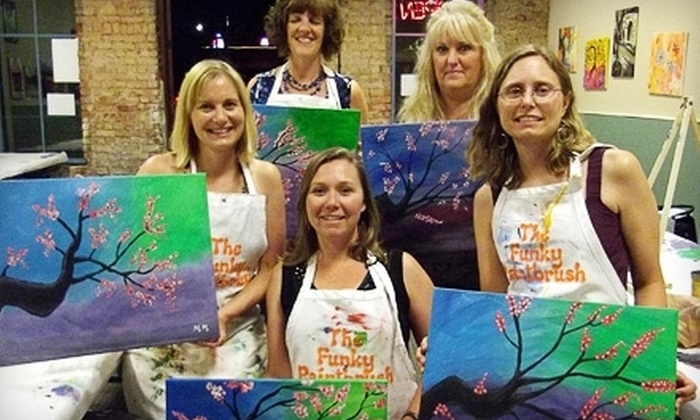 Picasso's Corner - Woodstock: BYOB Painting Class for One, Two, or Four Adults at Picasso's Corner (Up to 60% Off)