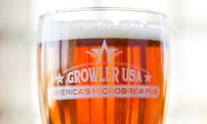 Growler USA - America's Microbrew Pub: Beer Packages for Two, Four, or Eight at Growler USA (Up to 51%  Off). Three Options Available.