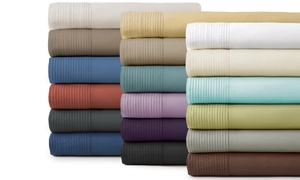 Premium Collection Extra-Deep Pocket Pleated Sheet Set (4-Piece)
