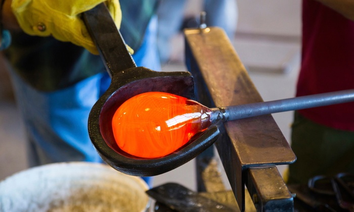 Valentine's Glassblowing Workshop - Decatur Glassblowing: Create a Glass Heart Paperweight for Valentine's Day