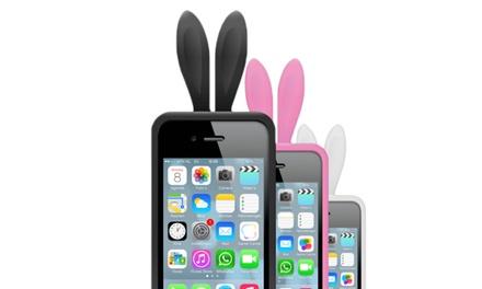 Funda protectora en forma de orejas de conejo para iPhone 4-5 disponible en varios colores