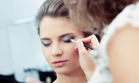 Bridal Airbrush Makeup Trial, Updo Trial, or Both at Luxury Lashes (Up to 54% Off)