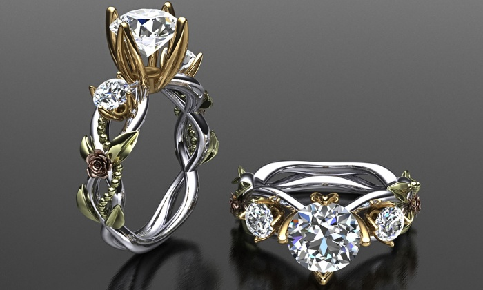Gems and Custom Jewelry American Blue Diamonds Groupon