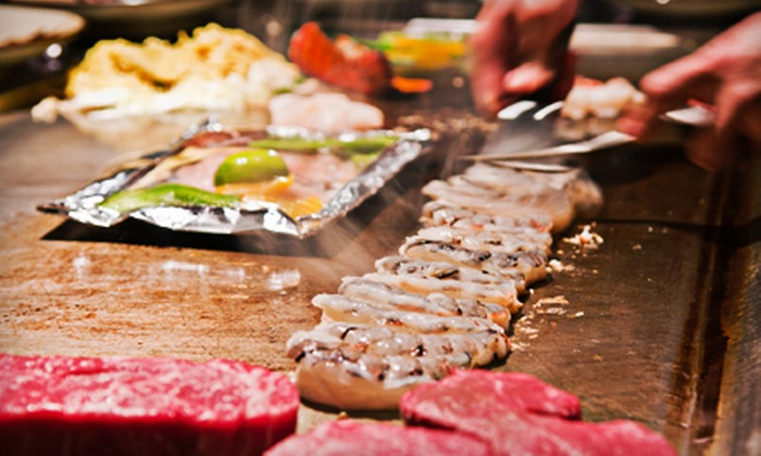 Arigato Japanese Steakhouse and Sushi Bar - Brighton: $17 for $35 Worth of Sushi and Hibachi Cuisine at Arigato Japanese Steakhouse and Sushi Bar