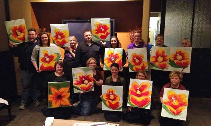 Vino van Gogh - Kansas City: Two-Hour Social Painting Event for One, Two, or Four at Vino van Gogh (Up to 47% Off)