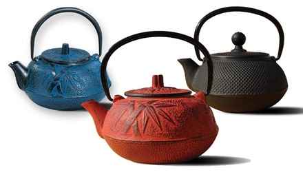 20 Oz. Tetsubin Cast Iron Tea Pot. Multiple Colors Available. Free Returns.