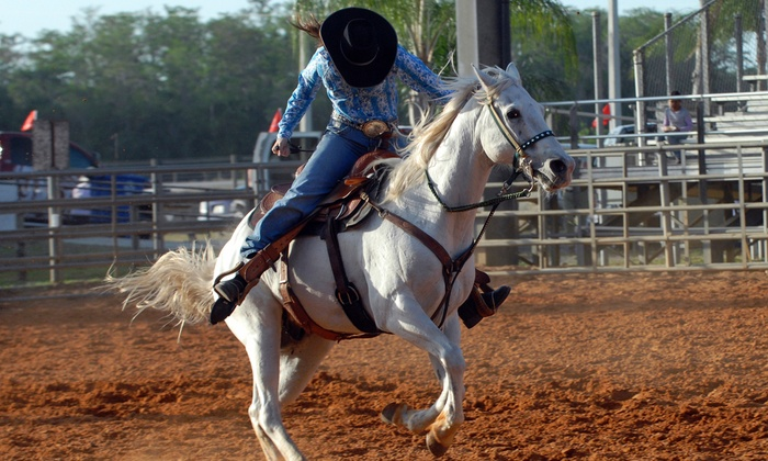 Polk County Cattlemen's Ranch Rodeo - Bartow Horse Arena at the Polk County Agri Civic Center: Two or Four Tickets to the Polk County Cattlemen's Ranch Rodeo (Up to 55% Value)
