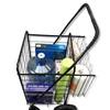 Folding Shopping Cart with Double Basket