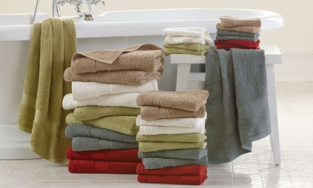18-Piece 100% Egyptian Cotton 600 GSM Towel Set