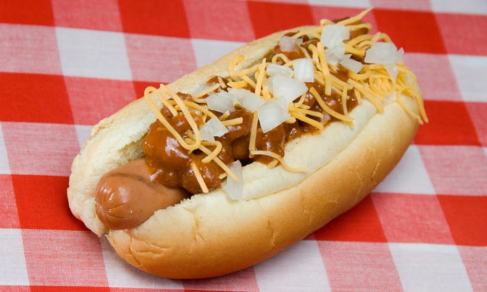 Coney Island Gourmet Hot Dogs - Boulevard Mall - Food Court: $10.50 for Three Groupons, Each Good for $5 Worth of Food  at Coney Island Gourmet Hot Dogs ($15 Value)