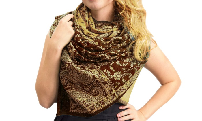 Peach Couture Reversible Custom Hand Made Paisley Pashminas: Peach Couture Reversible Custom Hand Made Paisley Pashminas