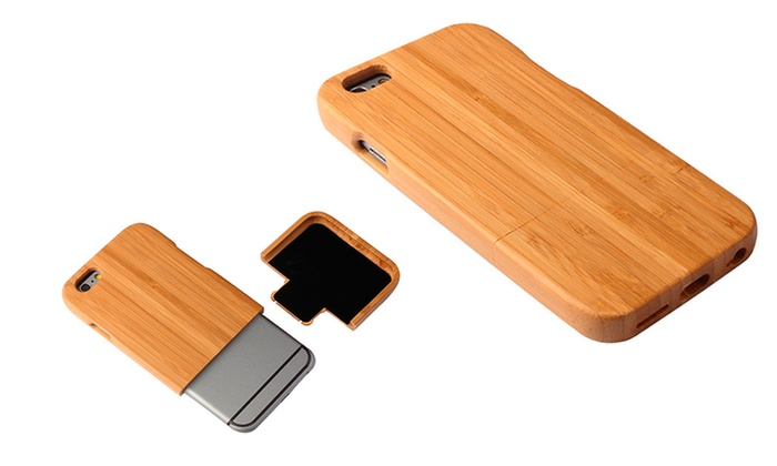 Natural Bamboo Wooden Case for iPhone 6/6s or iPhone 6/6s Plus : Natural Bamboo Wooden Case for iPhone 6/6s or iPhone 6/6s Plus