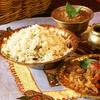 Menu etnico paki-indiano e bibita