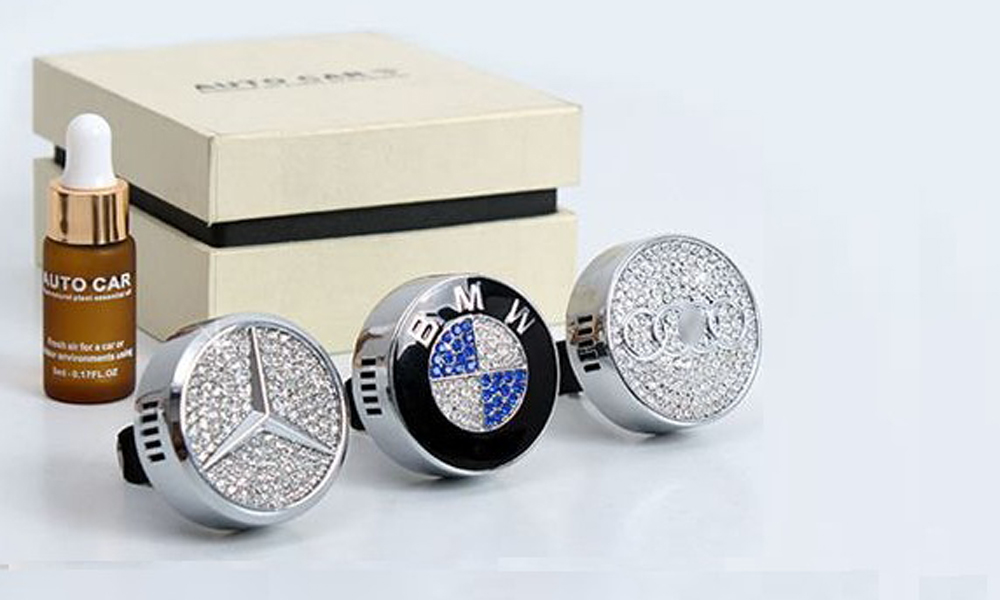 49 off rm30 for logo designed air freshener with crystals for Mercedes benz car air freshener