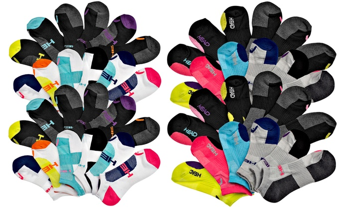 HEAD Women's Athletic No-Show Socks (24-Pack)