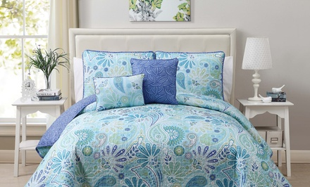 Harmony 5-Piece Reversible Quilt Set; Full/Queen or King Sizes from $39.99–$49.99. Free Returns.