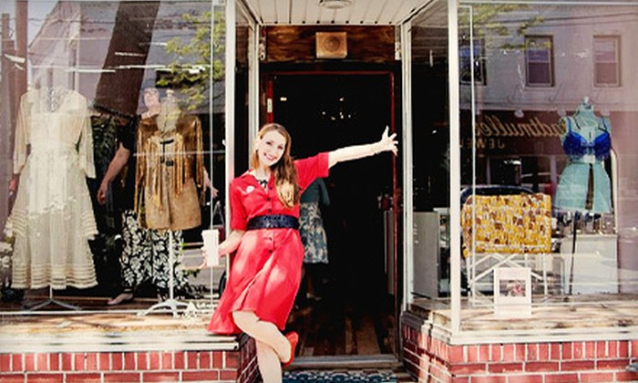 Paper Doll Vintage Boutique - Sayville: Vintage Apparel and Accessories at Paper Doll Vintage Boutique (Up to 53% Off). Two Options Available.