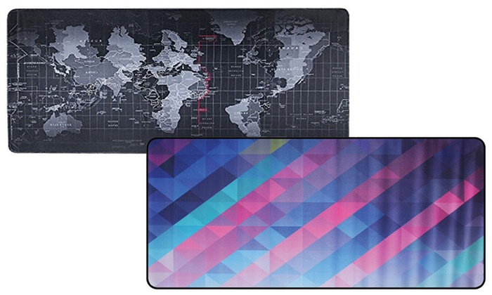 One or Two Large Anti-Slip Keyboard Mats for PC Computer Desk
