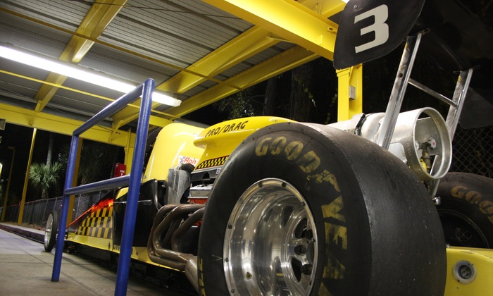Speed Park Motorsports - International Speedway Blvd : One or Two All-Day Wristbands with Dragster Rides and Arcade Cards at Speed Park Motorsports (Up to 50% Off)
