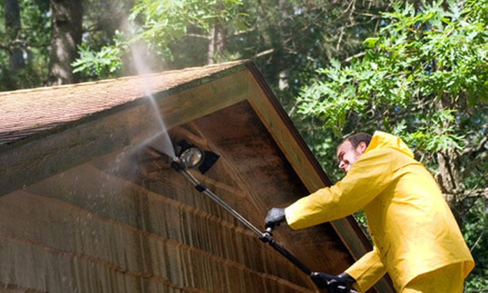 A+ Power Cleaning - Darien Park: Home Exterior Power-Washing Packages from A+ Power Cleaning (Up to 70% Off). Two Options Available.