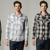 Distortion Men's Plaid Button-Up Shirts
