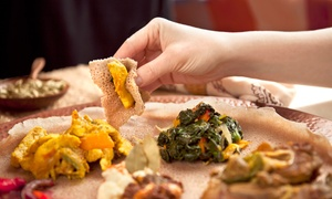 Ethiopia Restaurant: Ethiopian Meal for Two or Four at Ethiopia Restaurant in Berkeley (Up to 57% Off)