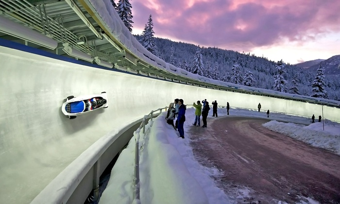 Whistler Sliding Centre - Whistler Sliding Centre: C$249 for a Bobsled Ride with a Canadian Olympic Athlete (C$309 Value)