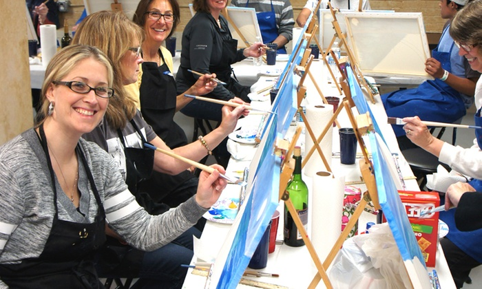Be ArtZy - Asheville: Paint and Wine Night for One or Two at Be ArtZy (Up to 49% Off)