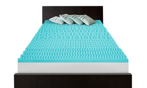 """2"""" 5-zone Memory Foam Topper With Circular Knit Cover"""