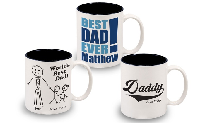 Monogram Online: $9.99 for a Personalized World's Best Dad Mug from Monogram Online ($24.99 Value)