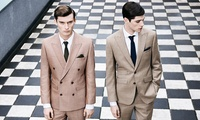 Bespoke Two or Three-Piece Suit Plus Optional Shirt, Tie and Pocket Square at Harris and Zei (Up to 67% Off)