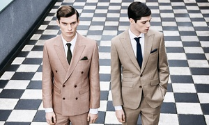 Harris and Zei: Bespoke Two or Three-Piece Suit Plus Optional Shirt, Tie and Pocket Square at Harris and Zei (Up to 67% Off)