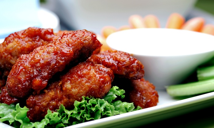 Wings Over New Haven - Downtown: $15 for Three Groupons, Each Good for $10 Worth of Wings, Ribs, and Sandwiches at Wings Over New Haven ($30 Value)