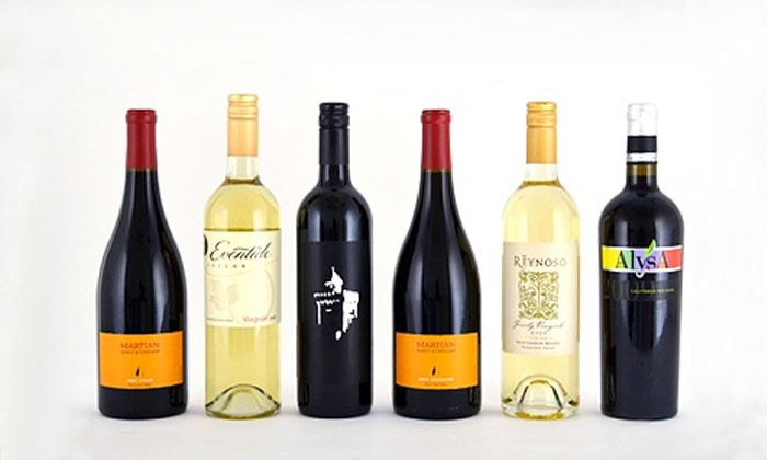 Club W: $35 for a Collection of Six Bottles of Wine, Featuring Two Whites and Four Reds from Club W ($96 Value)