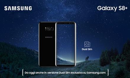 Esclusiva italiana:  35% su Galaxy S8+ Dual Sim e Clear View Standing Cover inclusa con spedizione gratuita