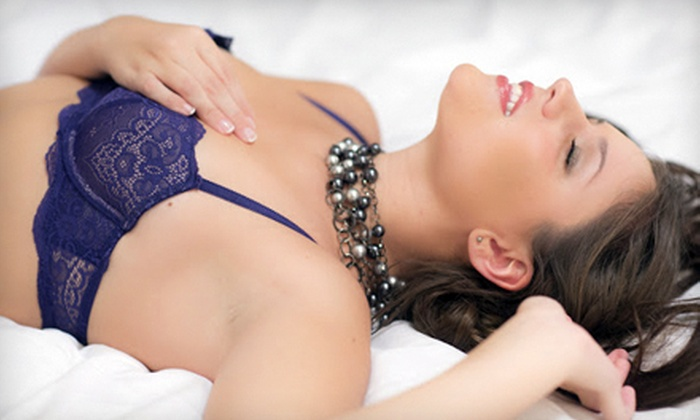 11:59 Photography - Petersburg: $99 for Boudoir Photo-Shoot Package with Hair and Makeup and Bedside Accordion Book from 11:59 Photography ($300 Value)