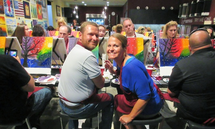 Pinot's Palette - Encino - Encino: $27 for a Three-Hour Painting Class at Pinot's Palette ($45 Value)