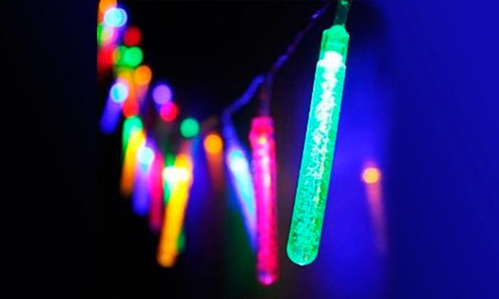 String Lights Vistaprint : Multi-Colored Solar Bubble Stick String Lights Groupon