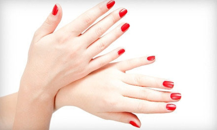 Hello Gorgeous Salon and Spa - Conway: One, Three, or Five Shellac Spa Manicures with Spa Pedicures at Hello Gorgeous Salon and Spa (Up to 60% Off)