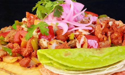 Dine-In or Take-Out Tacos, Tortilla Pizzas, and Burgers at Yo Amo Tacos (Up to 50% Off)