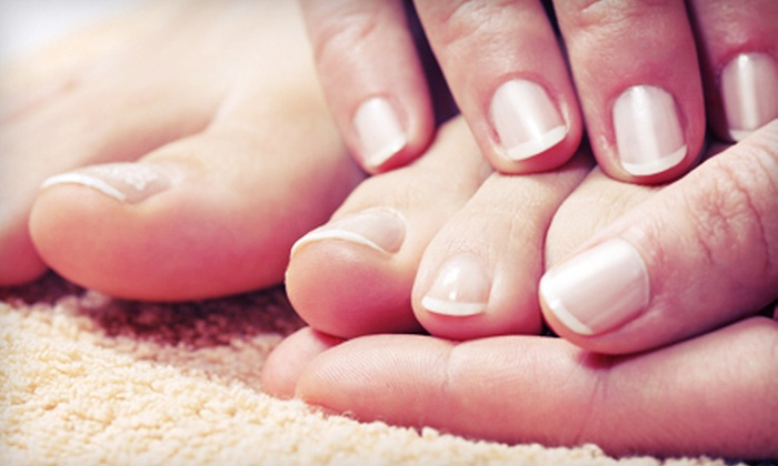 Hello Beautiful ! - Clay: $25 for a Mani-Pedi or Pedicure with Full Set of Artificial Nails or Fill-Ins at Hello Beautiful! (Up to $67 Value)