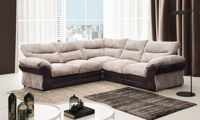 Houston Fabric Large Corner Sofa For £599, With Free Delivery (54% Off)