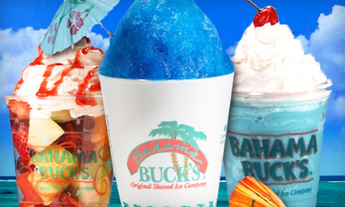 Bahama Buck's - Multiple Locations: Shaved Ice, Smoothies, and Fruit Cups at Bahama Buck's (Up to Half Off). Three Options Available.