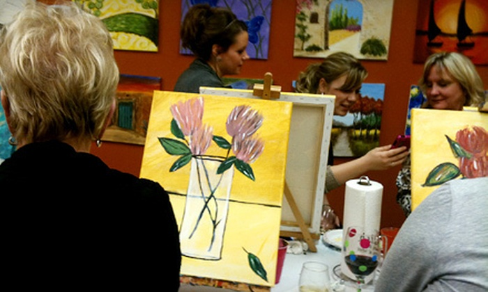 Art Class & Wine Glass - Northwest Harris: BYOB Art Class for One or Two at Art Class & Wine Glass (Up to 54% Off)