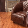 Holden Quilted Top-Grain Leather Club Chair