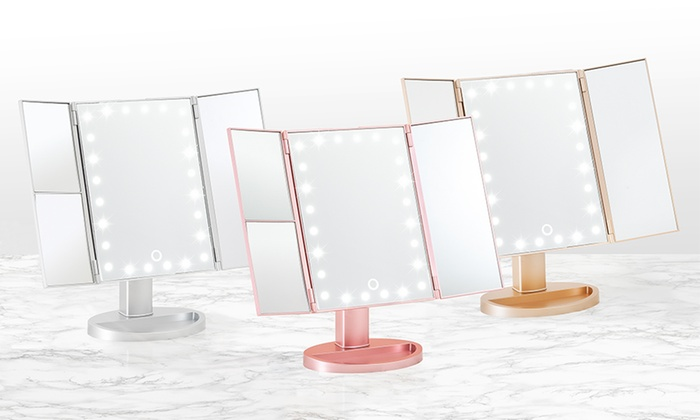 Globrite Tri-Fold Mirror with LED Lights from £19.99