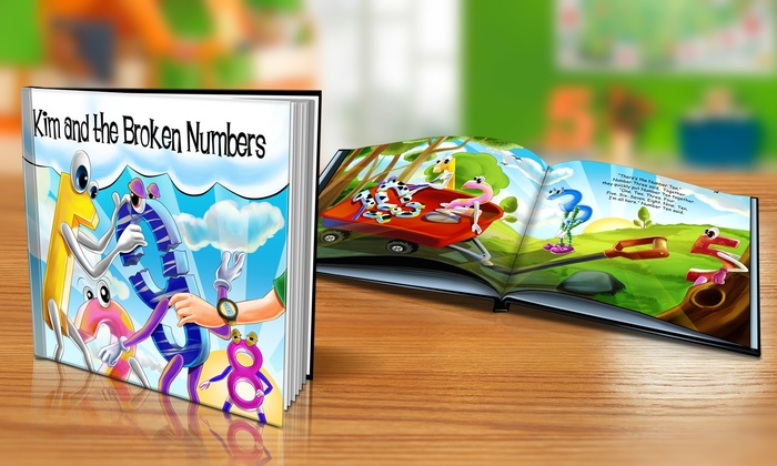 "Dinkleboo: $9 or $14 for Softcover or Hardcover ""The Broken Numbers"" Personalized Kids Book from Dinkleboo (Up to 65% Off)"