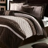 11-Piece Embroidered Comforter Set with Sheet Set
