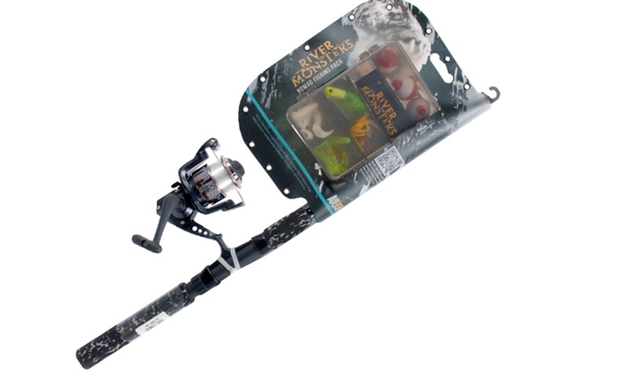 River monsters spinning combo groupon goods for Jeremy wade fishing rod